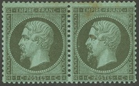 France - YT 19 pair - Mint hinged