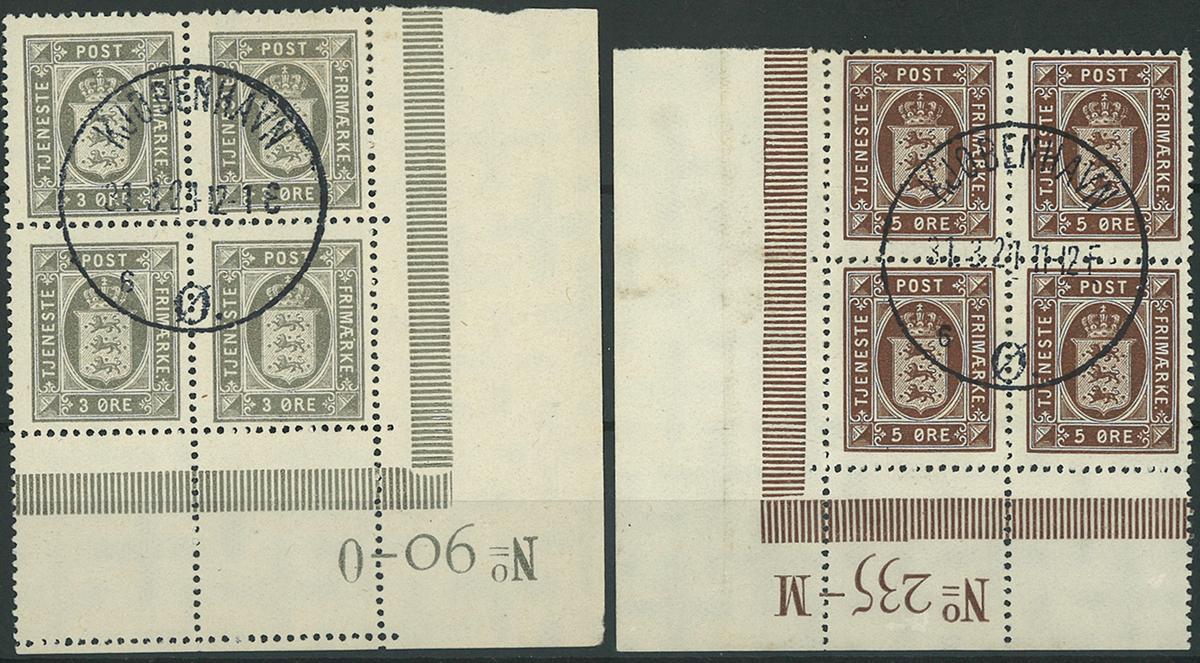 Danmark - Tjeneste - 1918-23