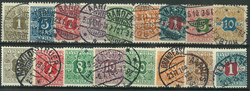 Danmark - Avisporto - 1907-15
