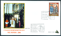 Vatican - 5 envelopes - The Pope's journeys