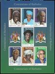 Barbados - Personligheder - Postfrisk miniark
