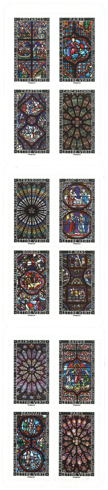 Frankrig - Glasmosaikker - Postfrisk hæfte