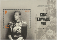 Jersey - Kong Edward VIII - Postfrisk miniark