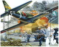 Marshall Islands - 75 years of Pearl Harbor - Mint souvenir sheet