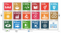 United Nations - Aims for development - Mint sheetlet