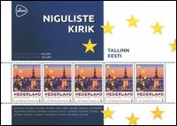 Holland - Europas hovedstæder Estland Tallinn - Postfrisk miniark