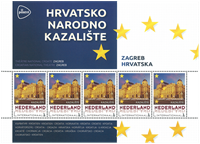 Holland - Europas Hovedstæder Kroatien - Postfrisk miniark