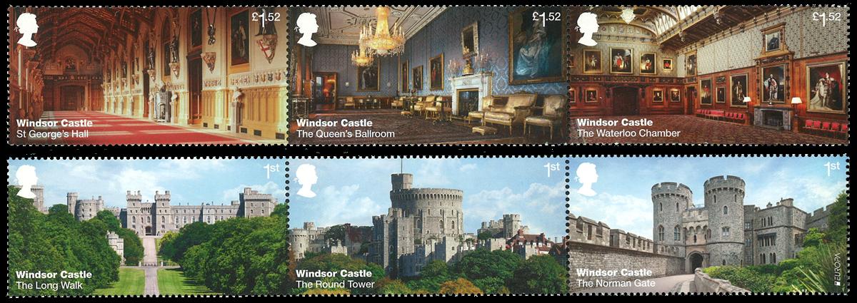 England - Windsor Castle - Postfrisk sæt 6v