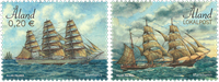 Åland Islands - Tall ships - Mint set 2v