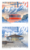 Schweiz - Schilthorn bjergtoppen - Postfrisk sæt 2v