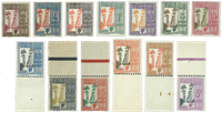 Guadeloupe postage 25-37, All Dumanoir