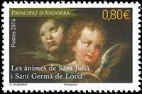 Fransk Andorre - St. julia - Postfrisk frimærke