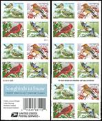 USA - Sangfugle i sneen - Postfrisk hæfte