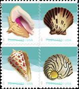 USA - Muslingeskaller - Postfrisk sæt 4v