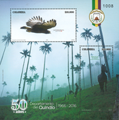 Colombia - Birds - Mint souvenir sheet
