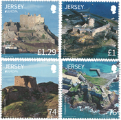 Jersey - Castles and Forts - Mint set 4v