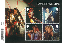 Great Britain - David Bowie - Mint souvenir sheet with bar code