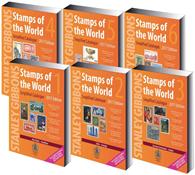 Stanley Gibbons frimærkekatalog - Hele Verden bind  1-6 komplet 2017