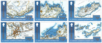 Alderney - Map of Alderney and Burho - Mint set 4v