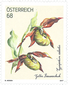 Austria - Yellow lady's-slipper orchid - Mint stamp