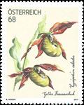 Østrig - Gul fruesko - Postfrisk frimærke