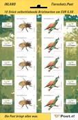 Austria - Honeybee and bee-eaters - Mint sheetlet