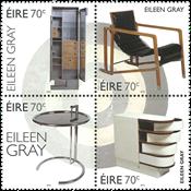 Irland - Møbelarkitekt Eileen Gray - Postfrisk sæt 4v