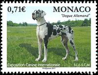 Monaco - Dog Show - Mint stamp