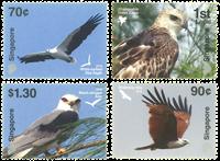 Singapore - Rovfugle - Postfrisk sæt 4v