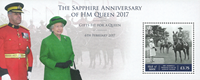 Isle of Man - 65 years coronation anniversary of Queen Elizabeth - Mint souvenir sheet
