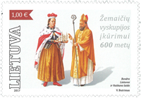Lithuania - Joint issue with the Vatican - Mint souvenir sheet