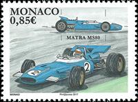 Monaco - Matra MS 80 - Mint stamp