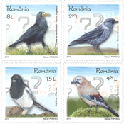 Romania - Intelligent birds - Mint set 4v