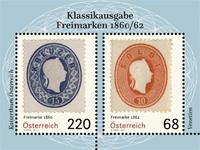Østrig - Klassiske frimærker 1860 - Postfrisk miniark