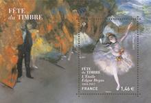 Frankrig - L'Étoile - Postfrisk miniark Frimærkets dag