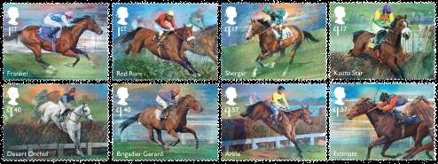 England - Væddeløbsheste legender - Postfrisk sæt 8v