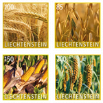 Liechtenstein - Afgrøder - Postfrisk sæt 4v