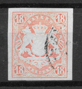 Baijeri 1867 - AFA 22 - Leimattu