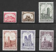 Belgia 1928 - AFA 244-249 - Postituore