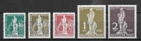 Berliini 1949 - AFA 36+38-41 - Leimaamatob