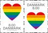 Danmark - Pride - Postfrisk sæt 2v