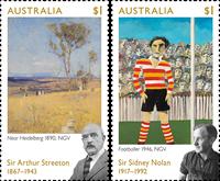 Australia - Streeton & Nolan - Mint set 2v