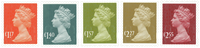 Great Britain - Definitives 2017 - Mint set 5v