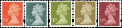 England - Nye dagligmærker 2017 - Postfrisk sæt 5v