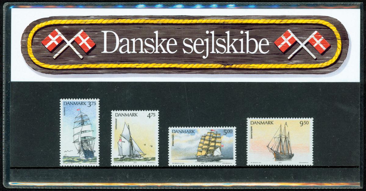 Danmark - Danske Sejlskibe. Souvenirmappe