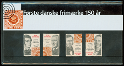 Danmark - Første danske frimærke 150 år.  Souvenirmappe