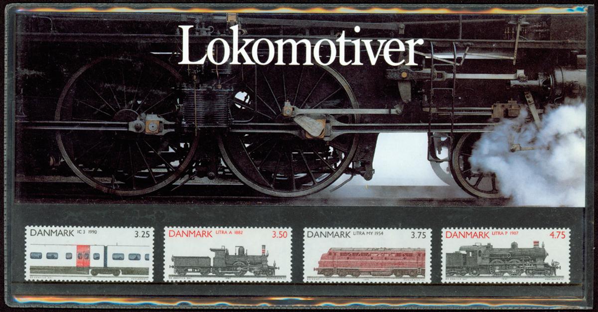 Danmark - Lokomotiver. Souvenirmappe 1991