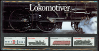 Denmark - Locomotives - Souvenir packs 1991