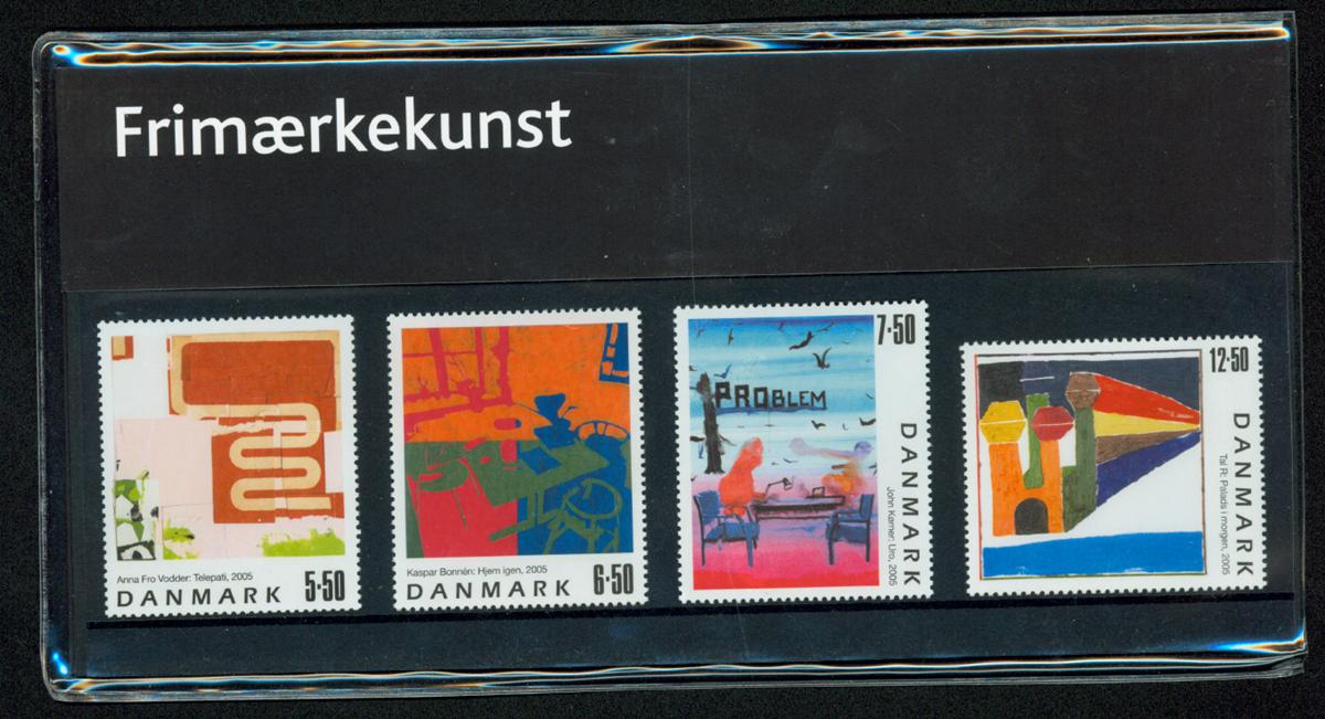 Danmark - Frimærkekunst - Souvenirmappe