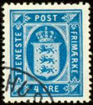 Danmark 1916 - AFA nr. 13(Tj) - Tjenestefrimærke